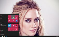 Hilary Duff win10 theme