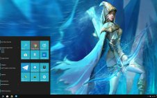 Ashe (LOL) win10 theme