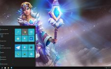 Crystal Maiden (DotA 2) win10 theme