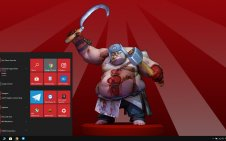 Pudge (DotA 2) win10 theme