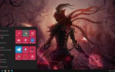Demon Hunter (Diablo III) win10 theme