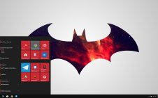 Batman Minimalist win10 theme