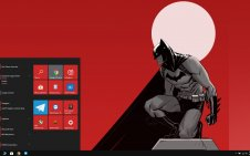 Batman Red win10 theme