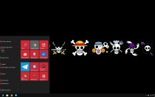 One Piece Logo win10 theme