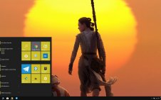 Rey (Star Wars) win10 theme