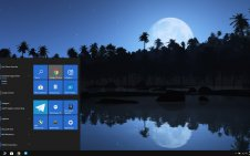 Night Beach win10 theme