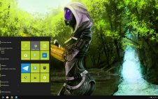 Tali'Zorah (Mass Effect) win10 theme