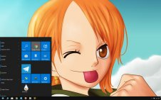 Nami (One Piece) win10 theme