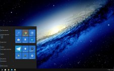 Dark Galaxy win10 theme