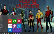 Young Justice win10 theme