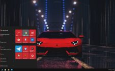 Lamborghini Red win10 theme