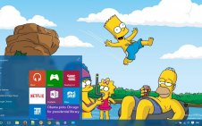 The Simpsons win10 theme