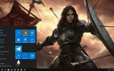 Female Knight win10 theme