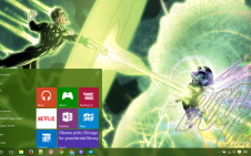 Green Lantern win10 theme