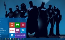 Justice League win10 theme