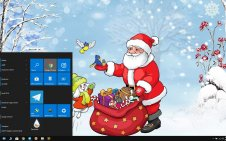 Santa Claus win10 theme