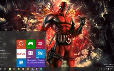 Deadpool Comics win10 theme
