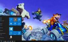 Crash Team Racing win10 theme