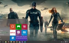 Captain America Movie win10 theme