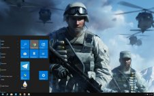 Battlefield: Bad Company 2 win10 theme