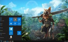 Biomutant win10 theme