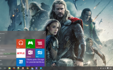 Thor The Dark World win10 theme