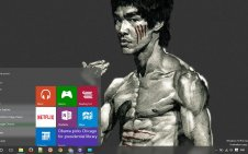Bruce Lee win10 theme