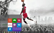 Michael Jordan win10 theme