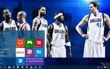 Dallas Mavericks win10 theme