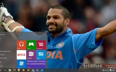 Indian Cricket Team win10 theme