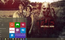 The Walking Dead win10 theme