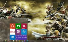 Final Fantasy Dissidia win10 theme