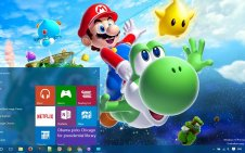 Super Mario win10 theme