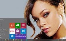 Rihanna win10 theme