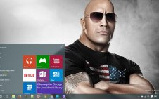 Dwayne Johnson win10 theme