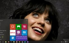 Zooey Deschanel win10 theme