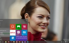 Emma Stone win10 theme