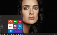 Salma Hayek win10 theme