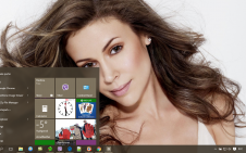 Alyssa Milano win10 theme