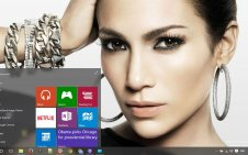 Jennifer Lopez win10 theme