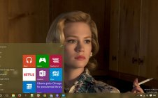 January Jones win10 theme