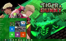 Tiger & Bunny win10 theme