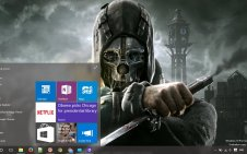 Dishonored win10 theme