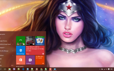 Wonder Woman win10 theme