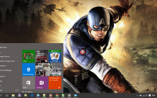 Captain America win10 theme