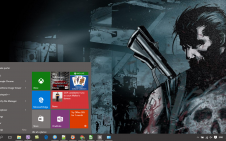 Punisher win10 theme