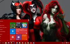Gotham City Sirens win10 theme