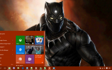 Black Panther Marvel win10 theme