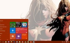 Ms Marvel win10 theme