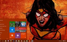 Spider-Woman win10 theme